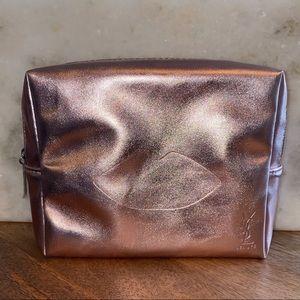 YSL Metallic Pink Cosmetic Bag